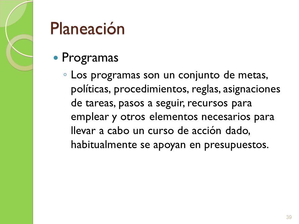 Planeación Programas.