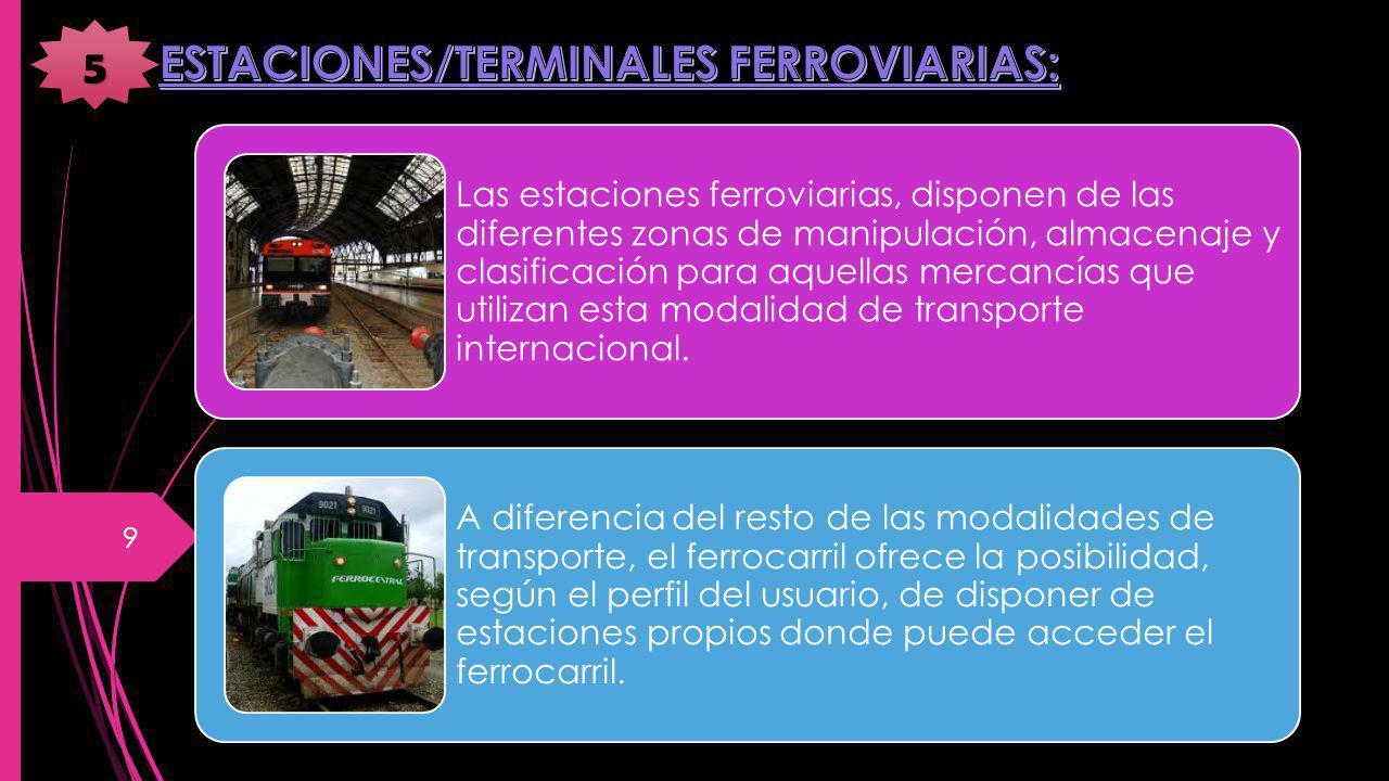 ESTACIONES/TERMINALES FERROVIARIAS:
