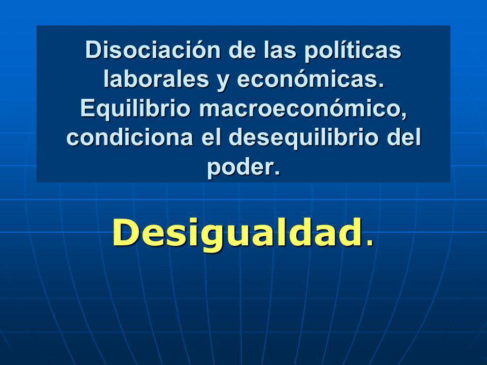 Disociación de las políticas laborales y económicas