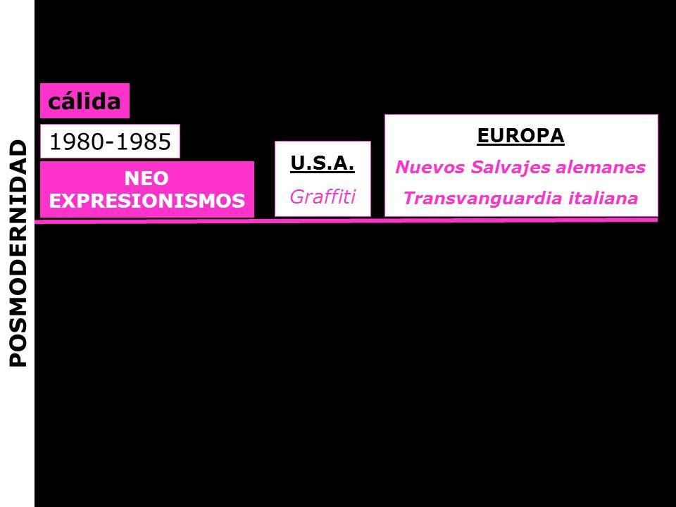 Nuevos Salvajes alemanes Transvanguardia italiana