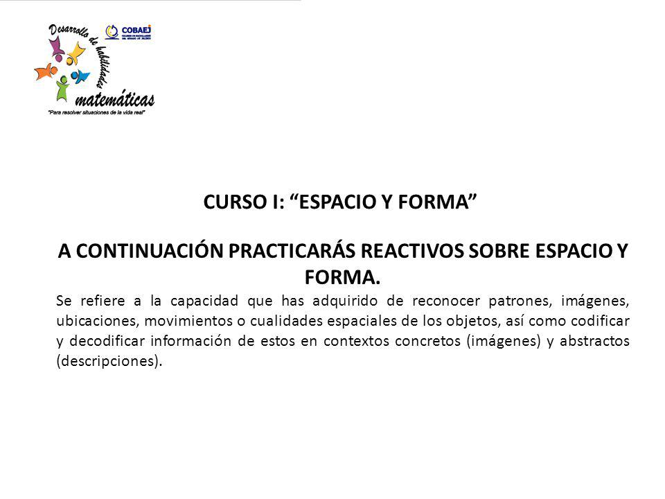 CURSO I: ESPACIO Y FORMA