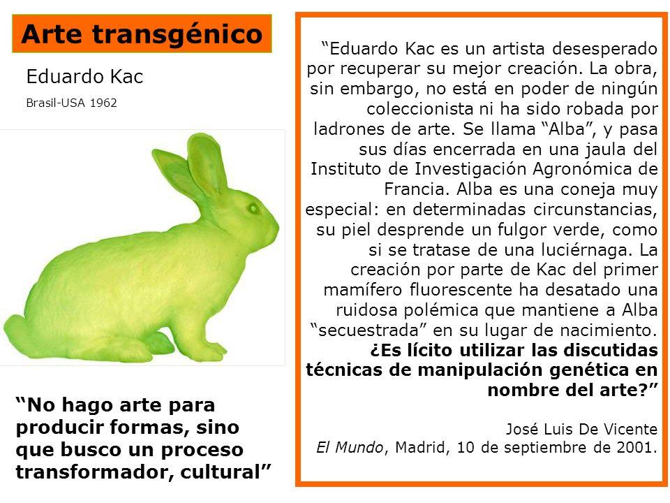 Arte transgénico Eduardo Kac