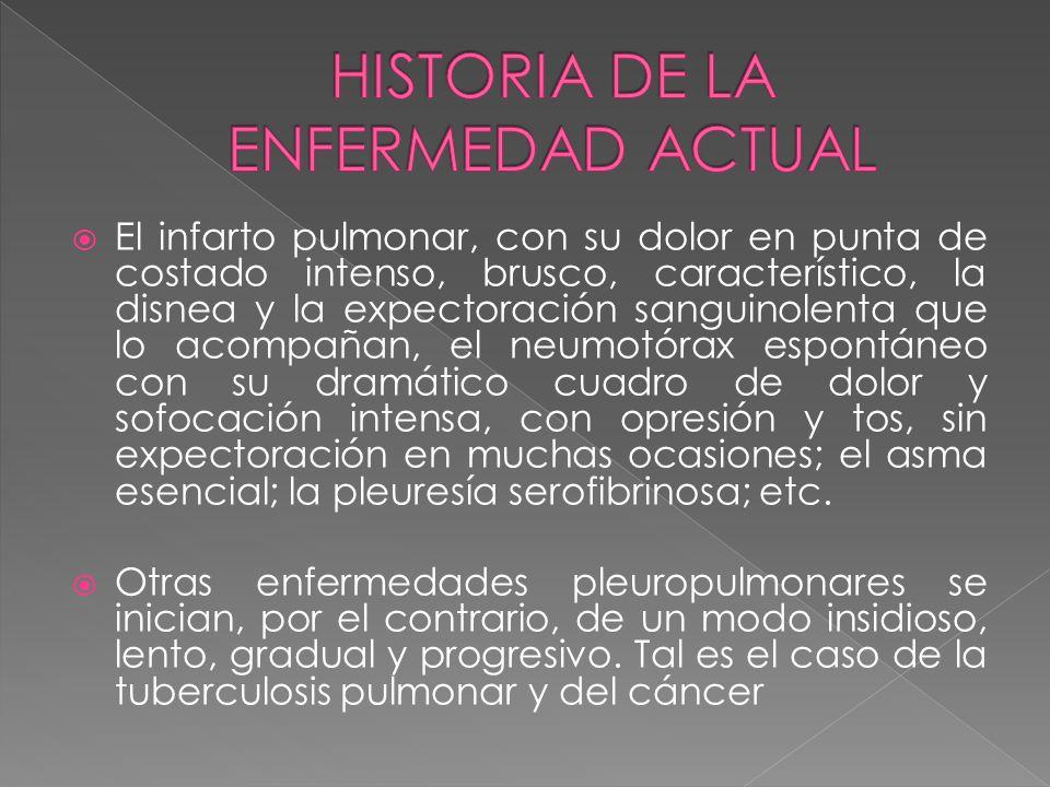 HISTORIA DE LA ENFERMEDAD ACTUAL