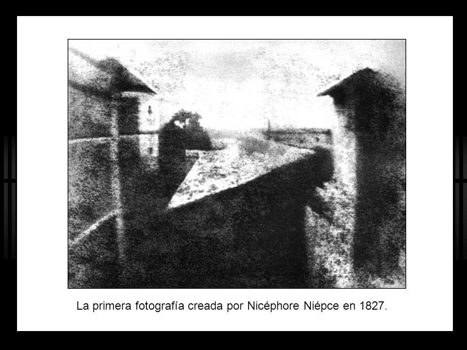 La primera fotografía creada por Nicéphore Niépce en 1827.