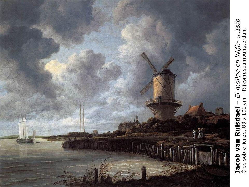 Jacob van Ruisdael – El molino en Wijk- ca.1670