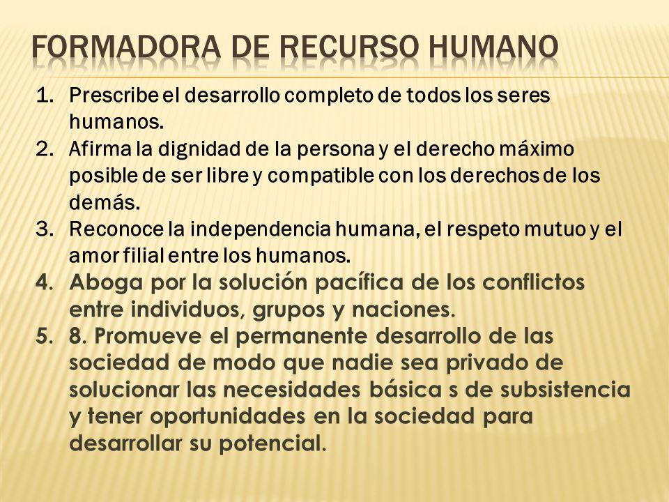 FORMADORA DE RECURSO HUMANO