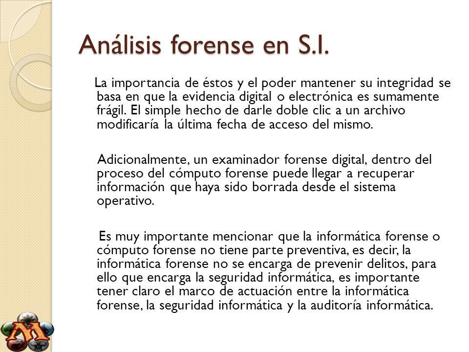 Análisis forense en S.I.