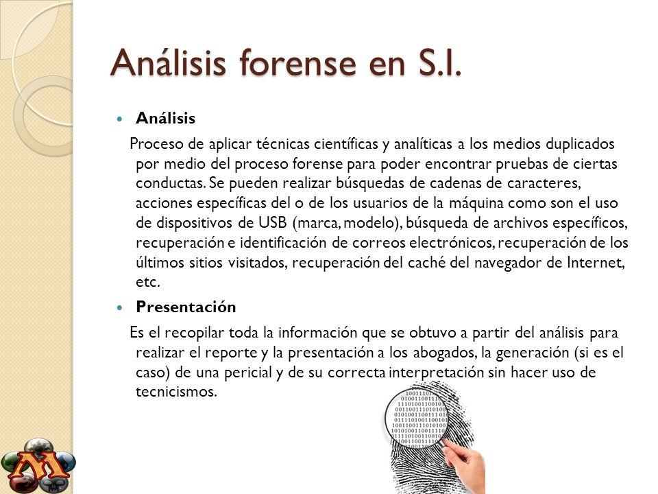 Análisis forense en S.I. Análisis