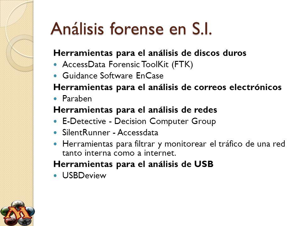 Análisis forense en S.I. Herramientas para el análisis de discos duros