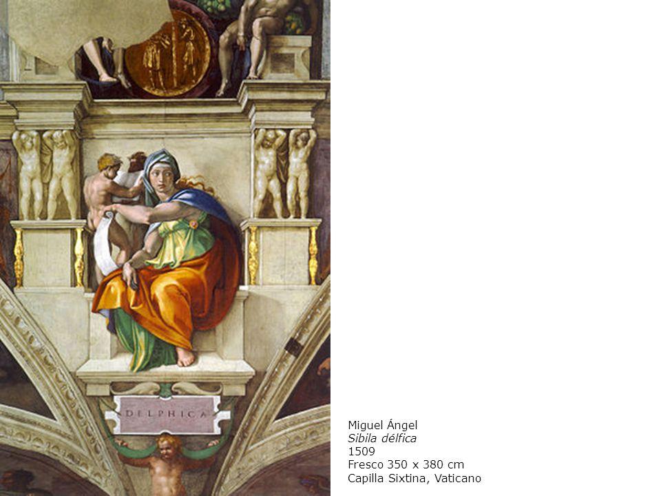 Miguel Ángel Sibila délfica 1509 Fresco 350 x 380 cm Capilla Sixtina, Vaticano