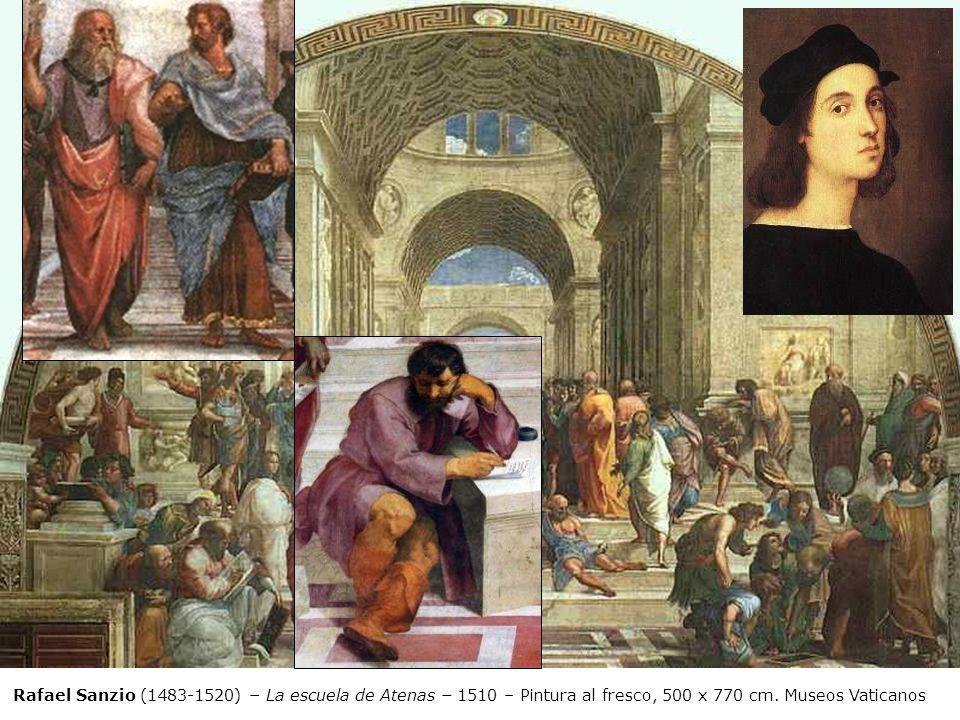 Rafael Sanzio (1483-1520) – La escuela de Atenas – 1510 – Pintura al fresco, 500 x 770 cm.