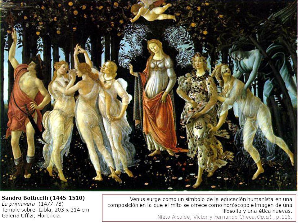 Sandro Botticelli (1445-1510) La primavera (1477-78) Temple sobre tabla, 203 x 314 cm. Galería Uffizi, Florencia.