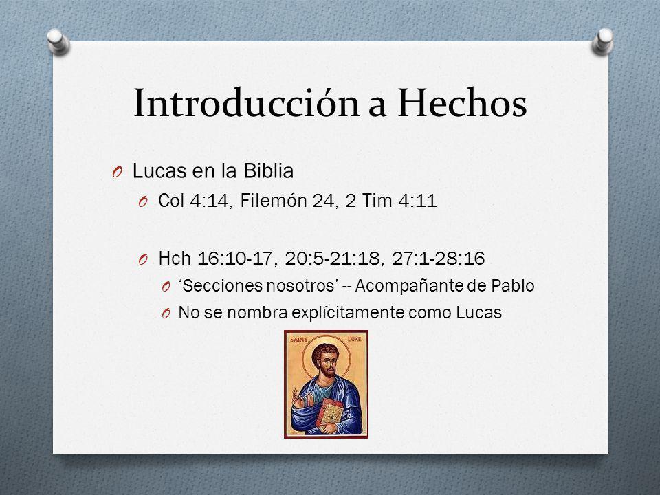 Introducción a Hechos Lucas en la Biblia