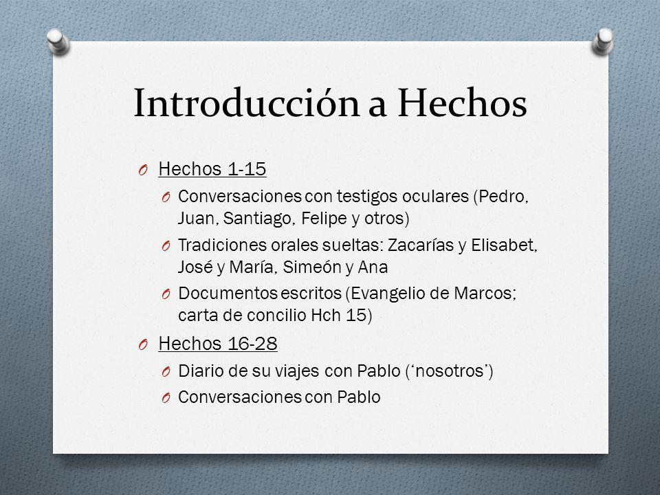 Introducción a Hechos Hechos 1-15 Hechos 16-28
