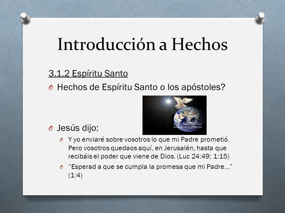 Introducción a Hechos 3.1.2 Espíritu Santo