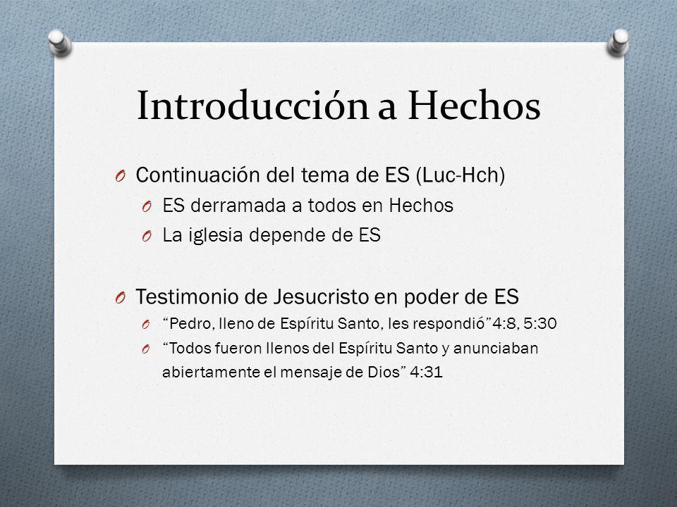 Introducción a Hechos Continuación del tema de ES (Luc-Hch)