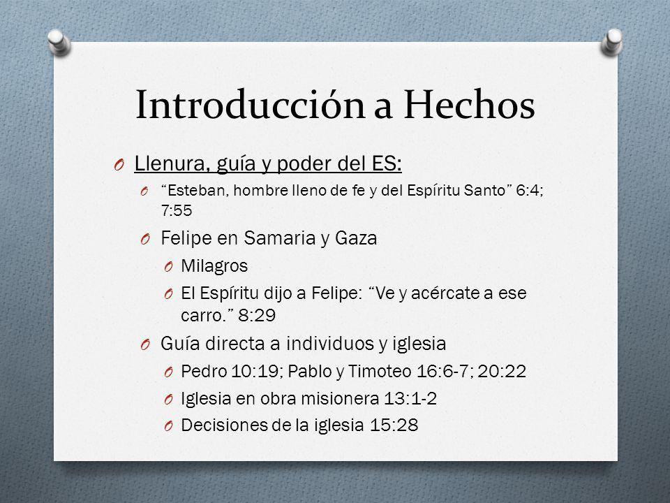 Introducción a Hechos Llenura, guía y poder del ES: