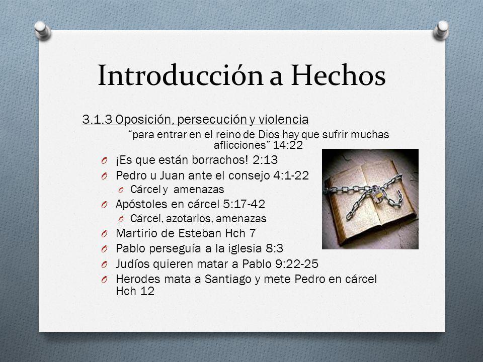 Introducción a Hechos 3.1.3 Oposición, persecución y violencia
