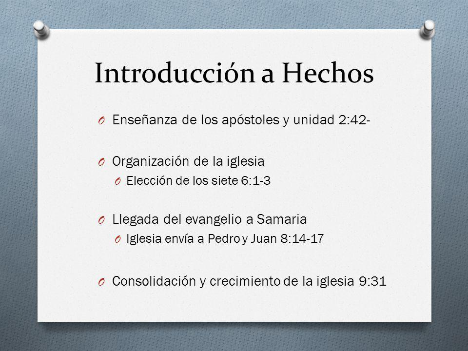 Introducción a Hechos Enseñanza de los apóstoles y unidad 2:42-