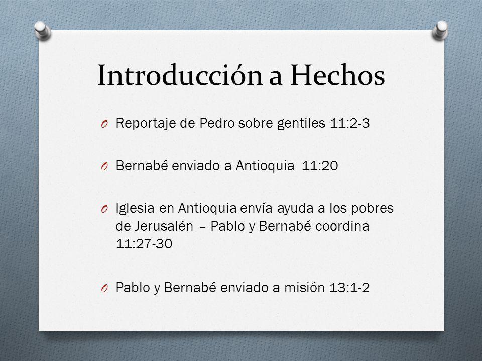 Introducción a Hechos Reportaje de Pedro sobre gentiles 11:2-3