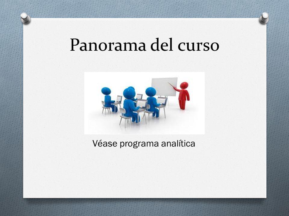 Véase programa analítica