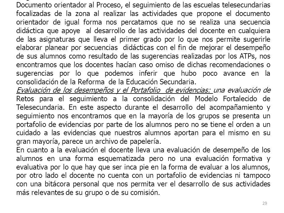 Seguimiento a la consolidación de la Reforma a la Educación Secundaria.