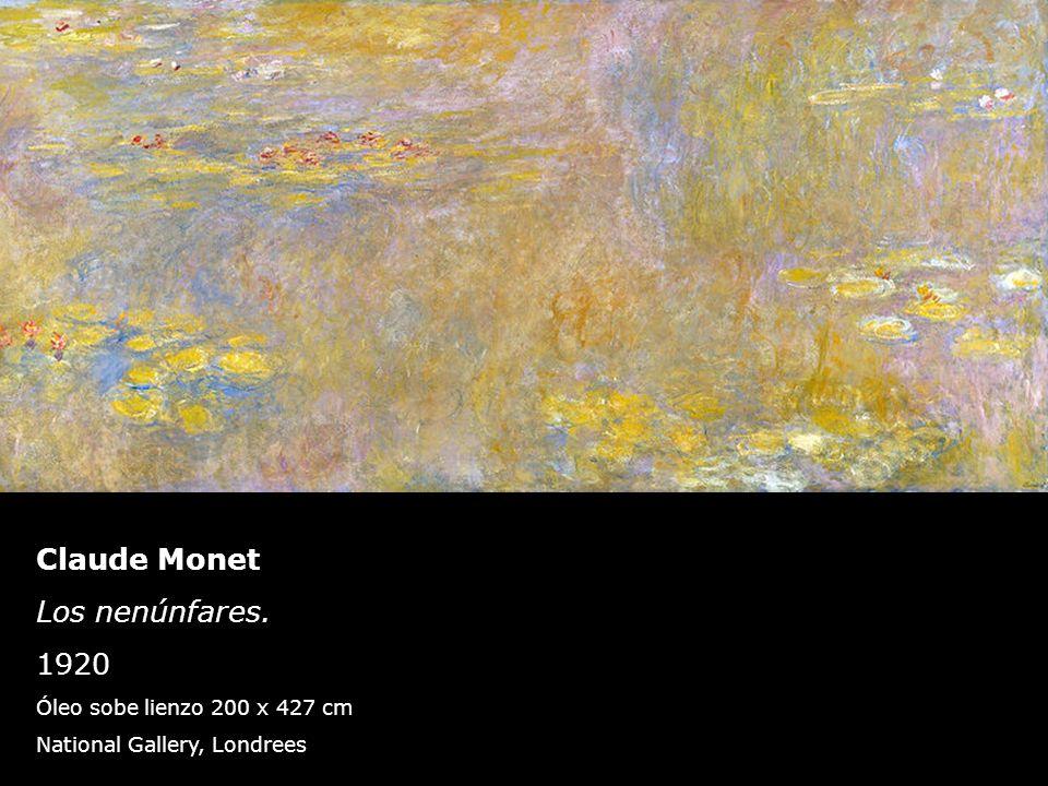 Claude Monet Los nenúnfares. 1920 Óleo sobe lienzo 200 x 427 cm