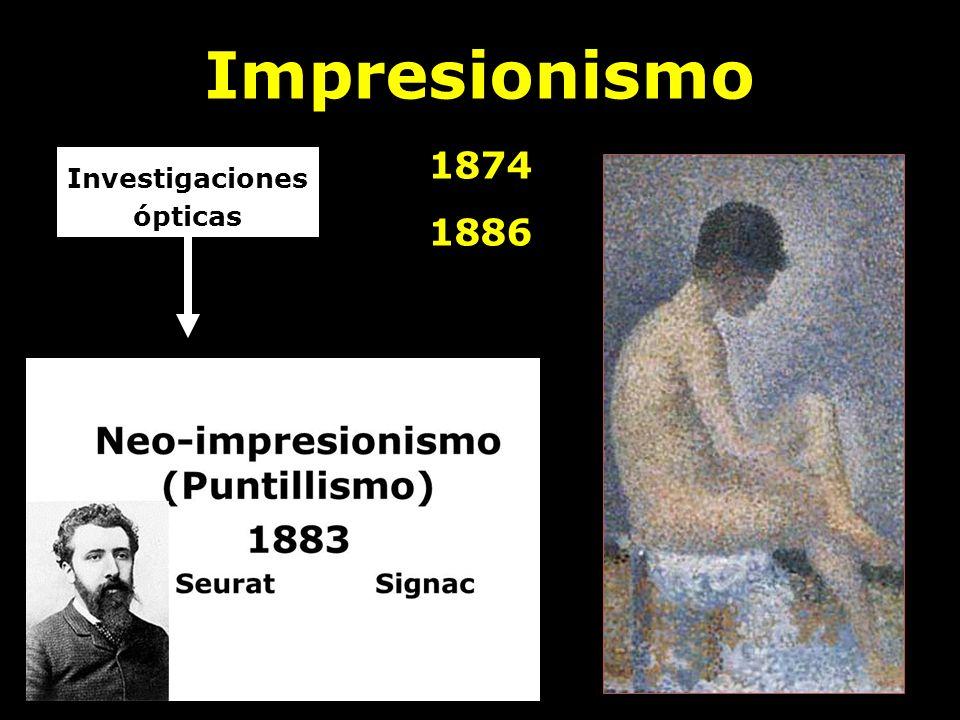 Impresionismo 1874 1886 Investigaciones ópticas Japonismo