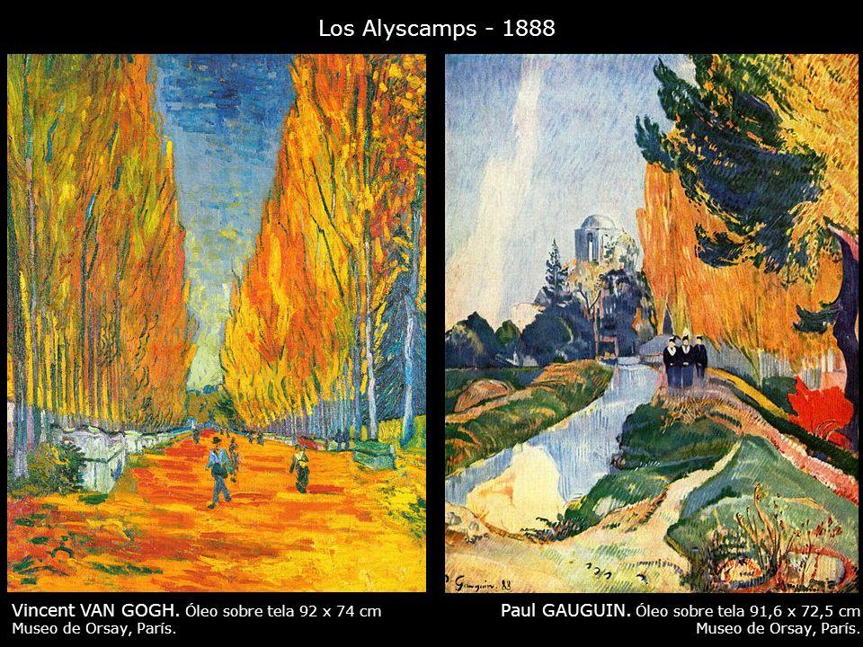 Los Alyscamps - 1888 Vincent VAN GOGH. Óleo sobre tela 92 x 74 cm