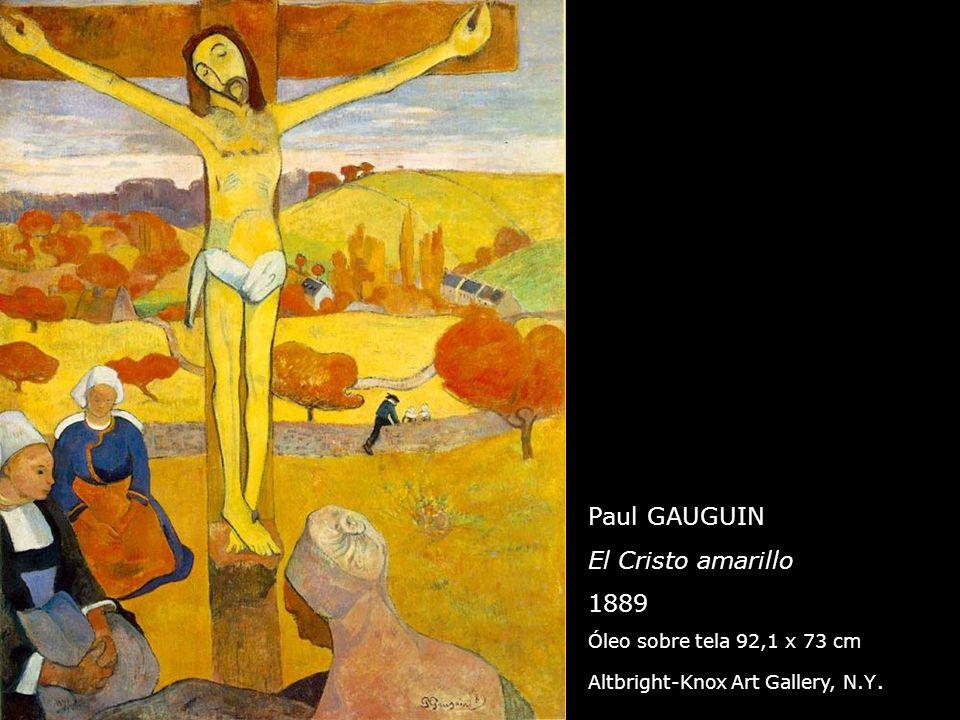Paul GAUGUIN El Cristo amarillo 1889 Óleo sobre tela 92,1 x 73 cm