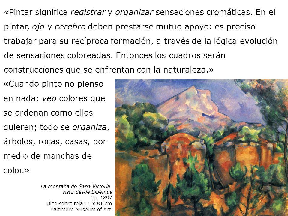 «Pintar significa registrar y organizar sensaciones cromáticas