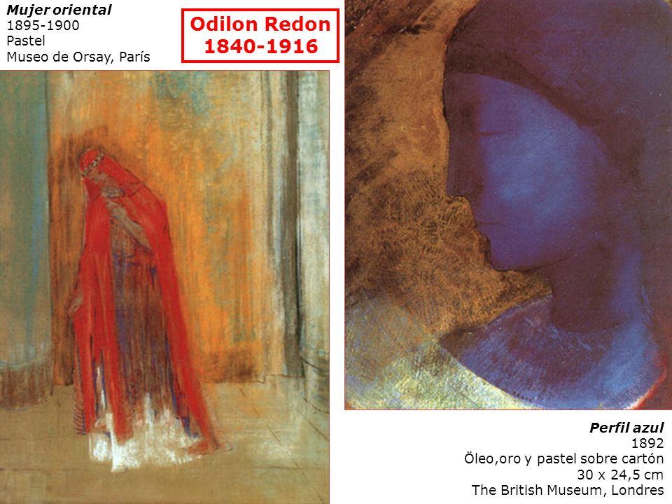 Odilon Redon 1840-1916 Mujer oriental 1895-1900 Pastel