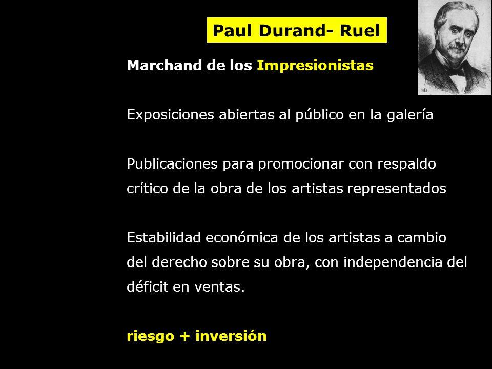 Paul Durand- Ruel Marchand de los Impresionistas