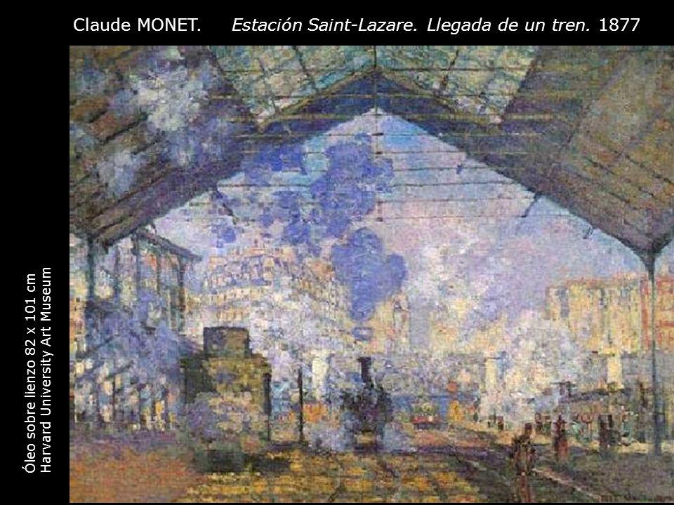 Claude MONET. Estación Saint-Lazare. Llegada de un tren. 1877