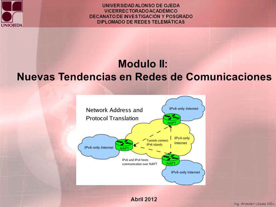 Modulo II: Nuevas Tendencias en Redes de Comunicaciones
