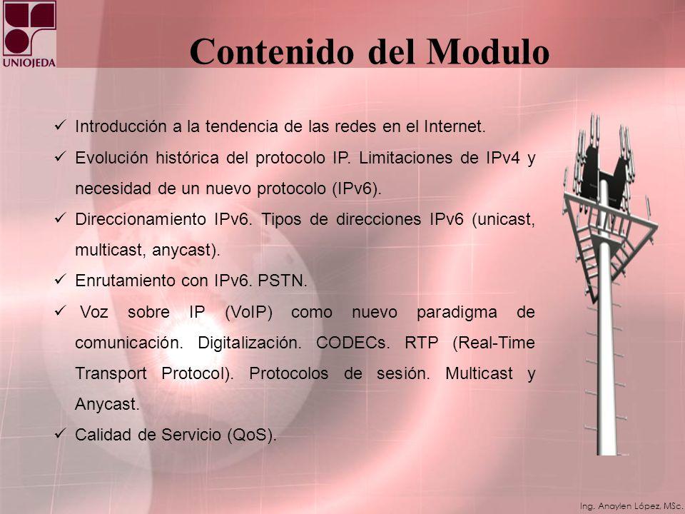 Contenido del Modulo Introducción a la tendencia de las redes en el Internet.