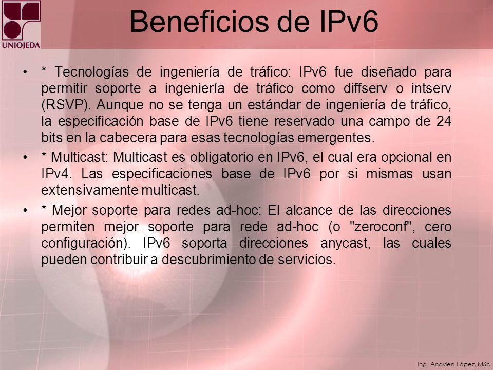 Beneficios de IPv6