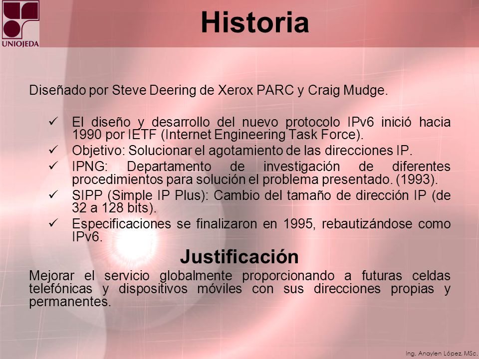 Historia Justificación