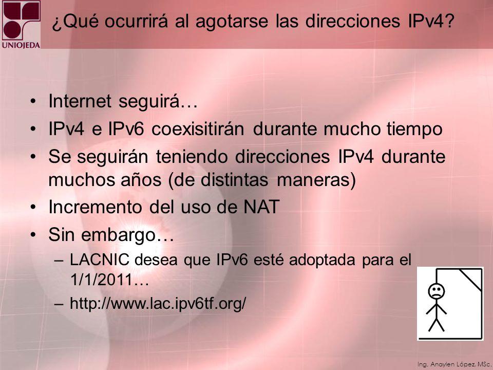 ¿Qué ocurrirá al agotarse las direcciones IPv4