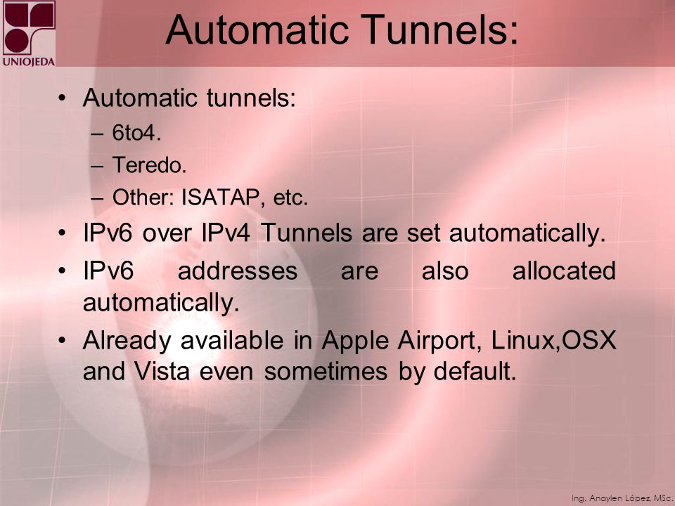 Automatic Tunnels: Automatic tunnels: