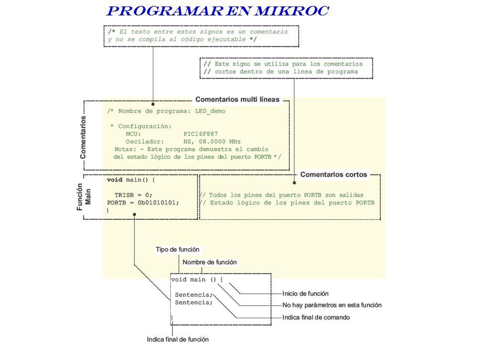 Programar en Mikroc