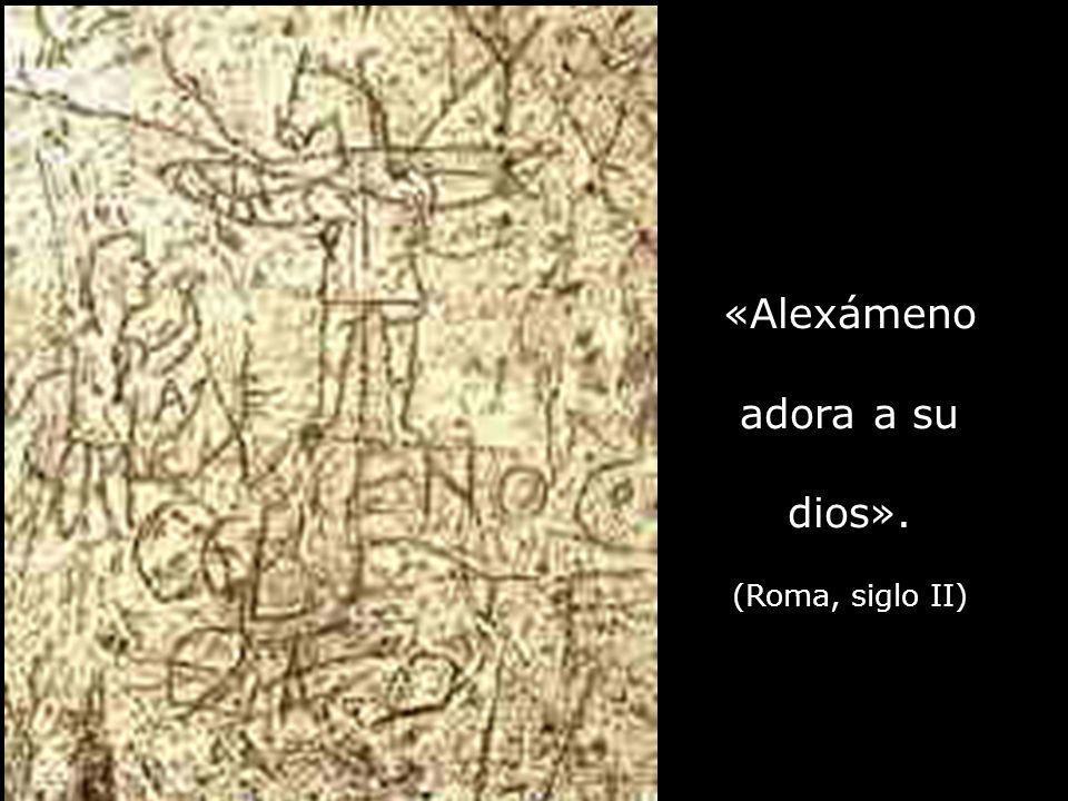 «Alexámeno adora a su dios».
