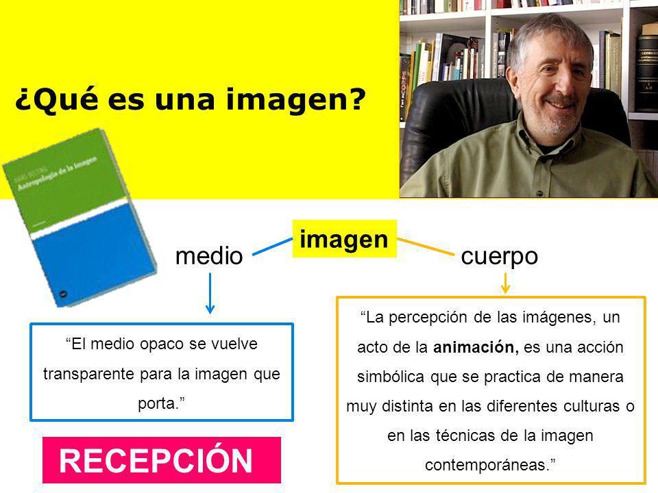 El medio opaco se vuelve transparente para la imagen que porta.