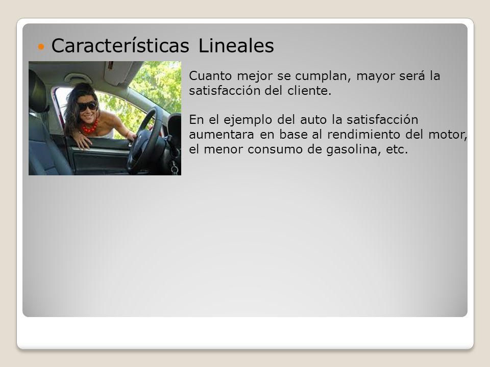 Características Lineales