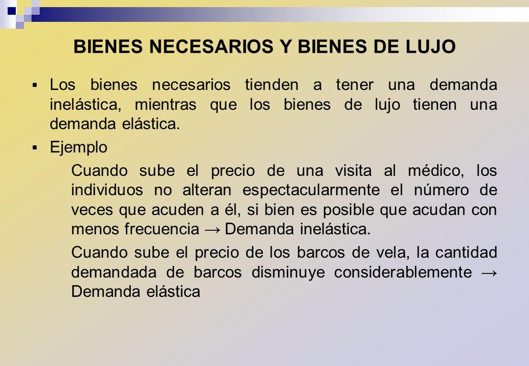 BIENES NECESARIOS Y BIENES DE LUJO