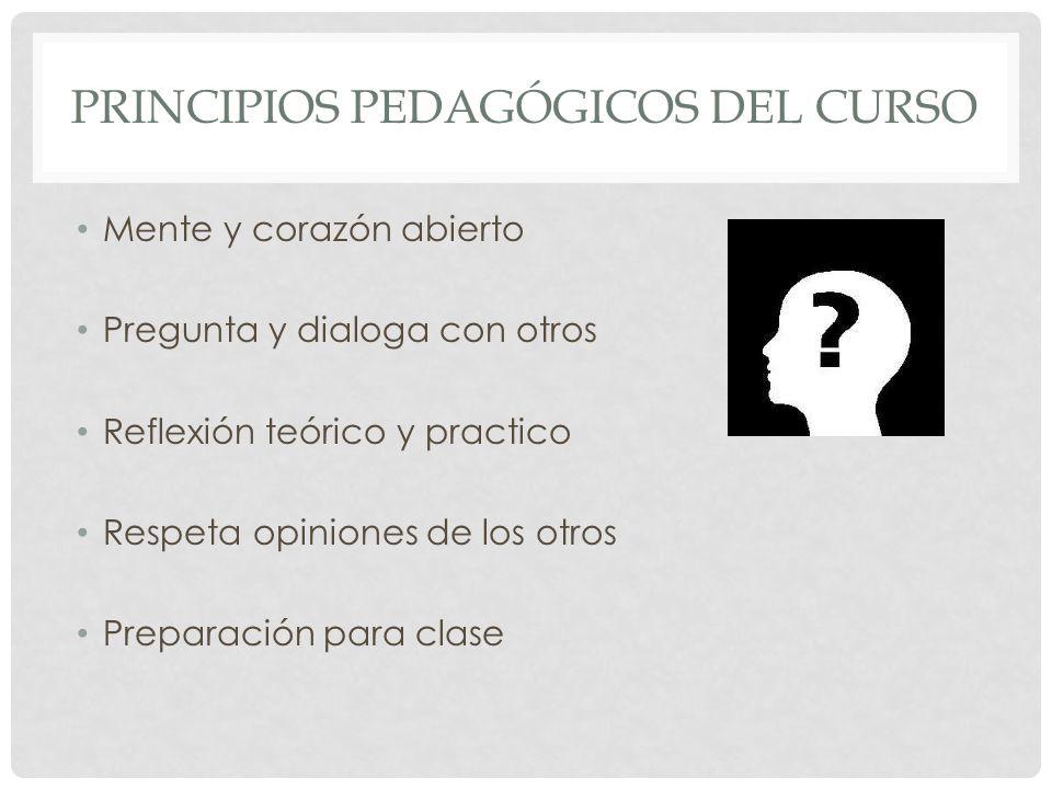 Principios PEDAGÓGICOS del curso