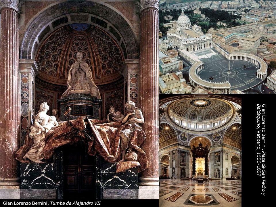 Gian Lorenzo Bernini, Plaza de San Pedro y Baldaquino, Vaticano, 1656-1657