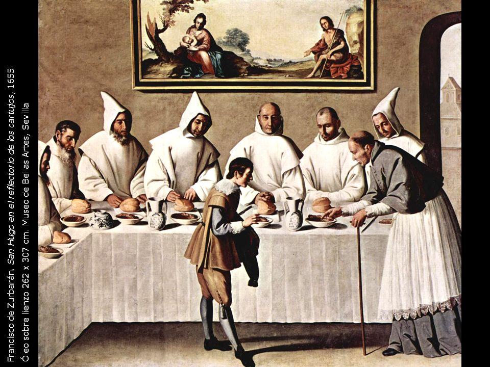 Francisco de Zurbarán. San Hugo en el reflectorio de los cartujos, 1655