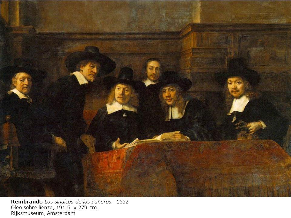 Rembrandt, Los síndicos de los pañeros. 1652