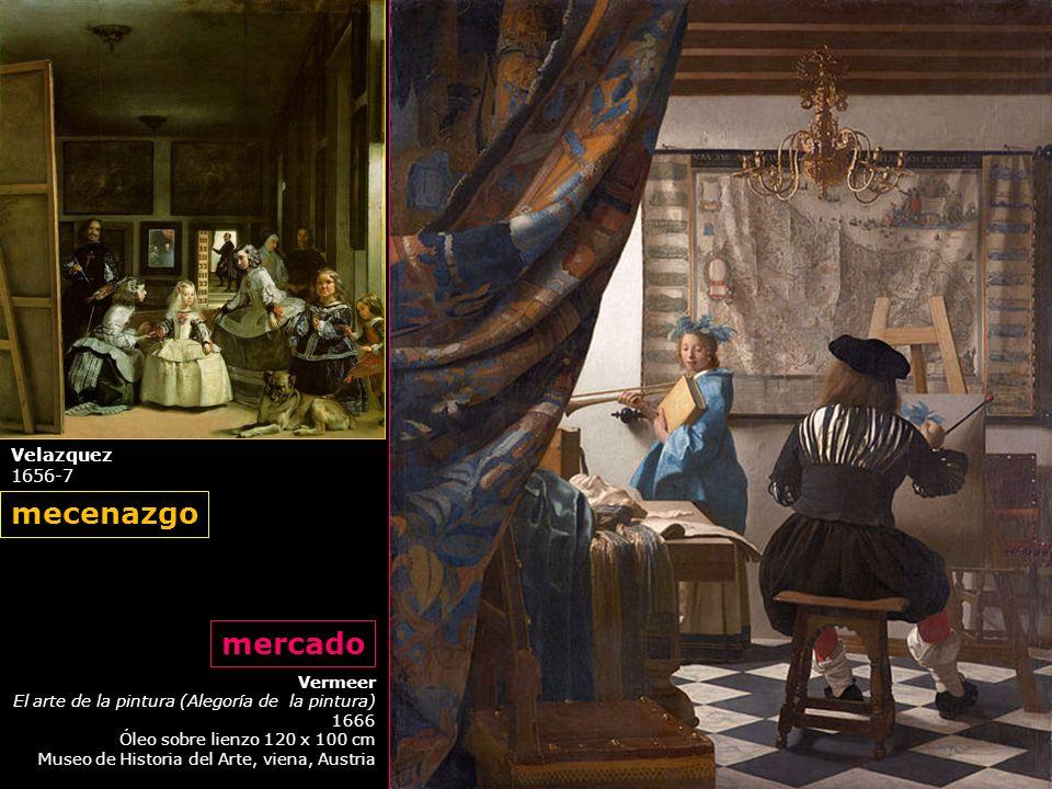 mecenazgo mercado Velazquez 1656-7 Vermeer